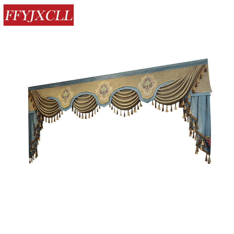 7 Style New Pelmet Europe Luxury Valance Curtains for Living Room Window Curtains for Bedroom Curtains 1 Piece Custom Made in Curtains from Home Garden