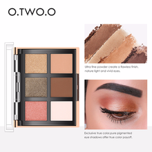 O.TWO.O Glitter Eye Shadow Palette Waterproof Matte Eyeshadow Face Blush Powder Eyes Makeup Palette Women Beauty Cosmetic 9982(China)