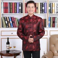 Lovers Dress Longevity Wedding Traditional Chinese Suit Collar Dragon Mens Ethnic Clothing Folk Clothes Blouse Style Chinois