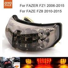 Motorcycle Integrated LED Tail Light Brake Turn Signal Blinker For Yamaha FAZER FZ1 FZ8 2010 2011 2012 2013 2014 2015 for honda cb400x cb500x cbr400r cbr500r cb500f 2013 2015 14 motorcycle integrated led tail light turn signal blinker lamp clear