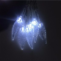 Novelty 10M 80LED Tree Leaves String Lights Battery Operated Fairy Lights For Wedding Party Christmas Home
