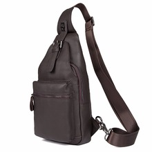 J.M.D New Arrivals  High Quality Real Leather Men's Chest Bag Black Cross Body Bag Mini Leather Bag Coffee 4012Q