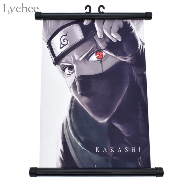 Naruto Kakashi Hanging Wall Scroll Painting Canvas Wall Poster