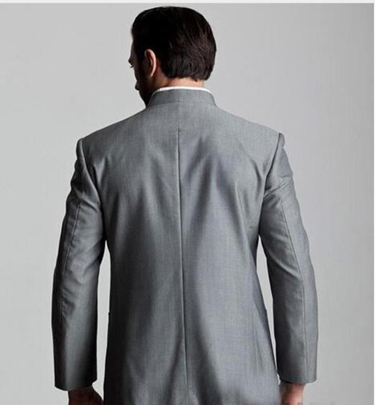 Gris D'honneur Meilleurs Garçons Costume veste Smoking De Same As Col Stand Nouveau Design Bouton Picture Pantalon Marié Cinq Hommes Des 2018 Mariage Portent xIwvOn