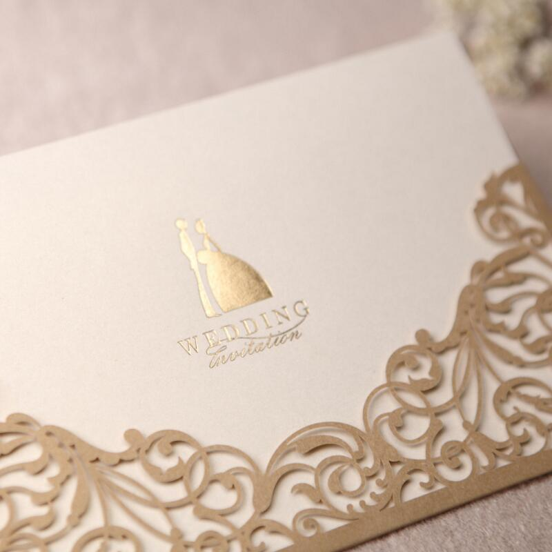 30pcs Pack Luxury Golden Laser Cut Wedding Invitations Bride Groom Card Event Party Supplies In Cards From Home