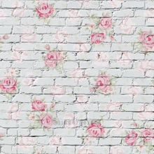 Mehofoto Seamless Vinyl Photography Background Flower Brick Backdrops Computer Children backdrop for photo Studio S-1384