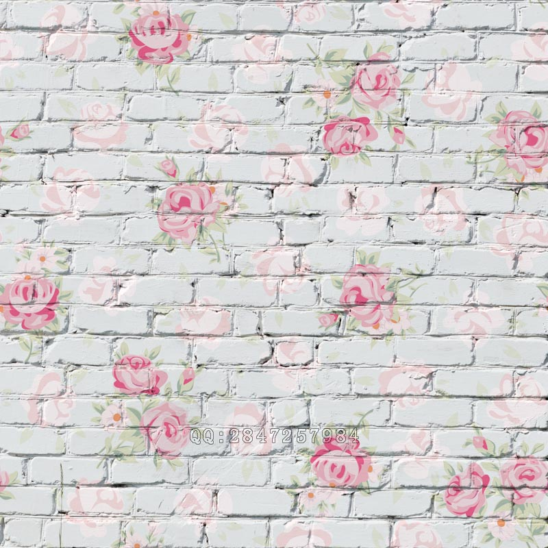 Mehofoto Seamless Vinyl Photography Background Flower Brick Backdrops Computer Children backdrop for photo Studio S 1384