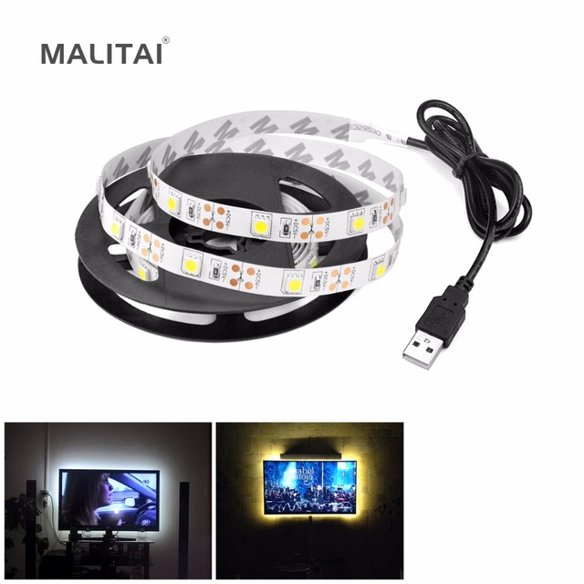 Tv backlight bias lighting 5050 led strip lights waterpoof tape tv backlight bias lighting 5050 led strip lights waterpoof tape mini usb cable decoration lamp rope mozeypictures Image collections