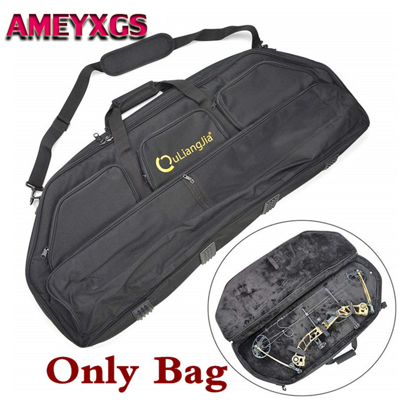Archery Compound Bow Bag Case Arrow Pocket Carry Cover Portable Backpack Holdall