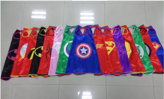 US $118 0 |2016 superhero capes Superman Spiderman Batman Captain America  Ironman party favors customize logo mono layer on Aliexpress com | Alibaba
