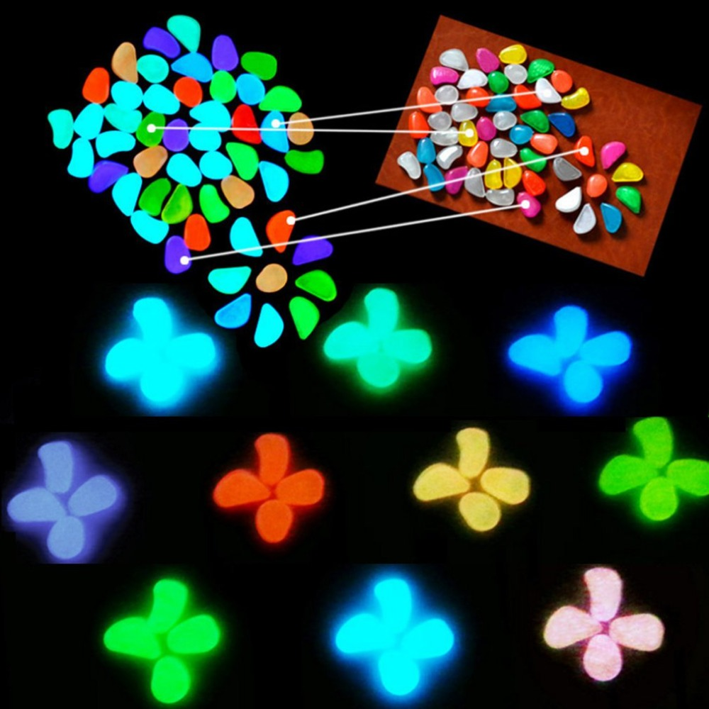 Glow in the Dark Garden Pebbles Glow Stones Rocks for Walkways Garden Path Patio Lawn Garden Yard Decor Luminous stones
