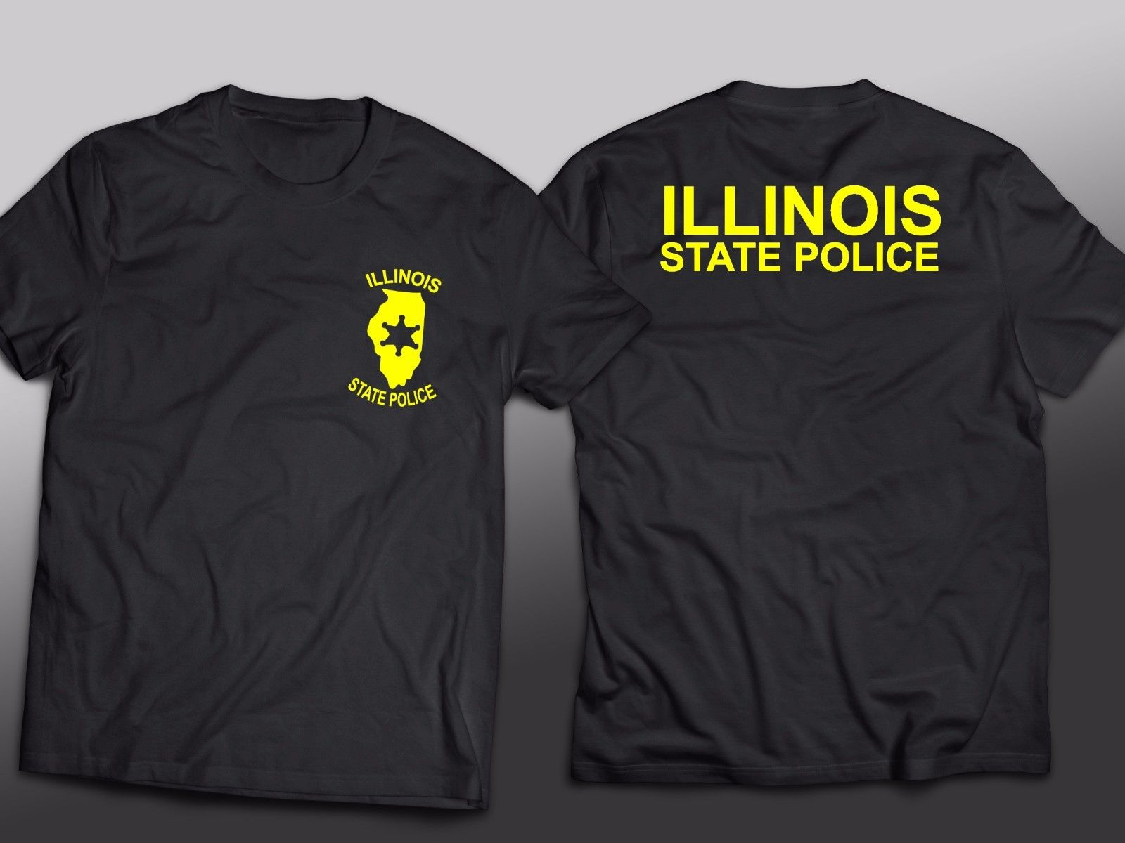 2019 Fashion Hot sale NEW <font><b>Illinois</b></font> Police State Integrity Service PrideT-Shirt Tee Tee shirt image