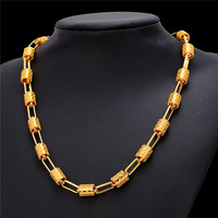 2016 18K Yellow Gold Platinum Plated Chain Necklace For Men Women Fashion Jewelry Wholesale Novelty Necklace