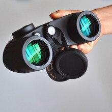 KINGOPT 7X50 질소 방수 담벼락 나이트 비전 쌍안경 BAK4 나침반 HD 망원경 미러 사냥 장비를 가득