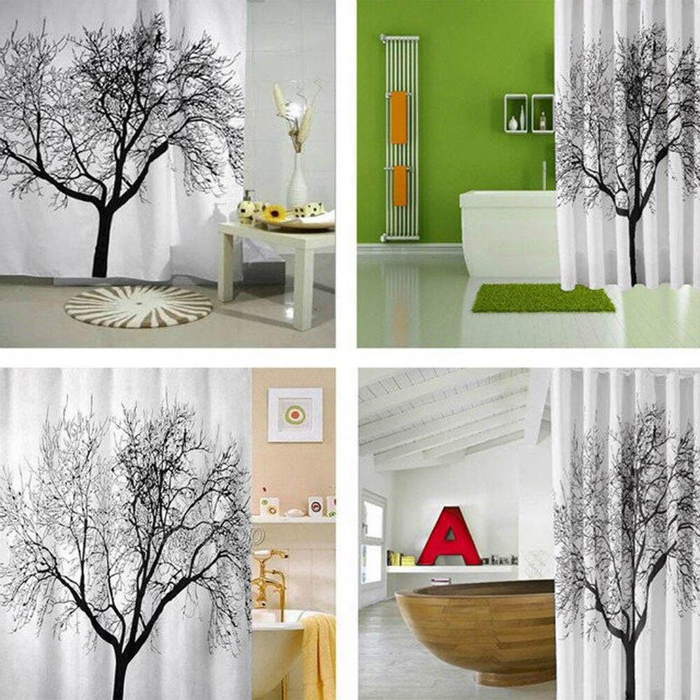 Bathroom Polyester Fabric 180x200CM Shower Curtain Landscape Big ...