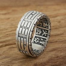2016 Горячая Мода Ювелирные Изделия Тай-Чи Багуа настоящее стерлингового серебра 925 кольцо для женщин и мужчин обручальное кольцо мода 925 ювелирных украшений G11