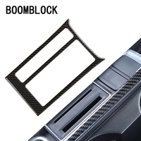 BOOMBLOCK Carbon Fiber Water Cup Panel Stickers For Volkswagen VW Golf 7 GTI R GTE GTD MK7 2013 16 2017 LHD Car styling