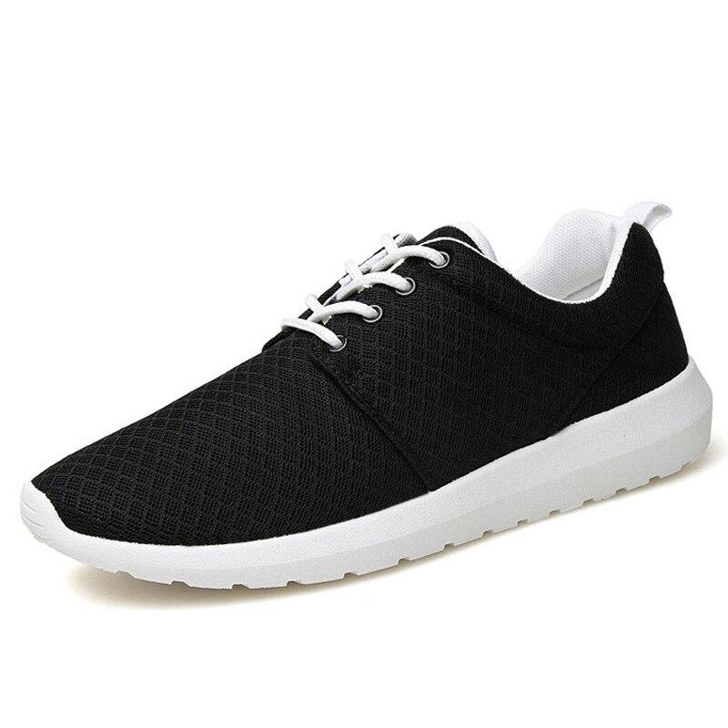 pria olahraga menjalankan sepatu 2017 tren musim panas terbaru udara bernapas sneaker hantaman joging