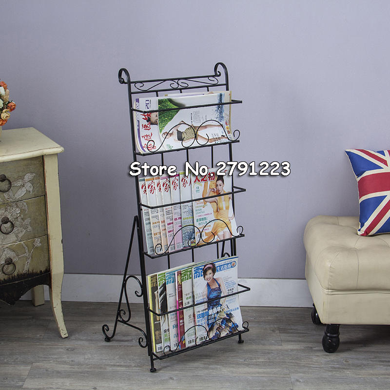 Metal magazine rack books floor steel shelf stereo creative promotional display shelf shelf