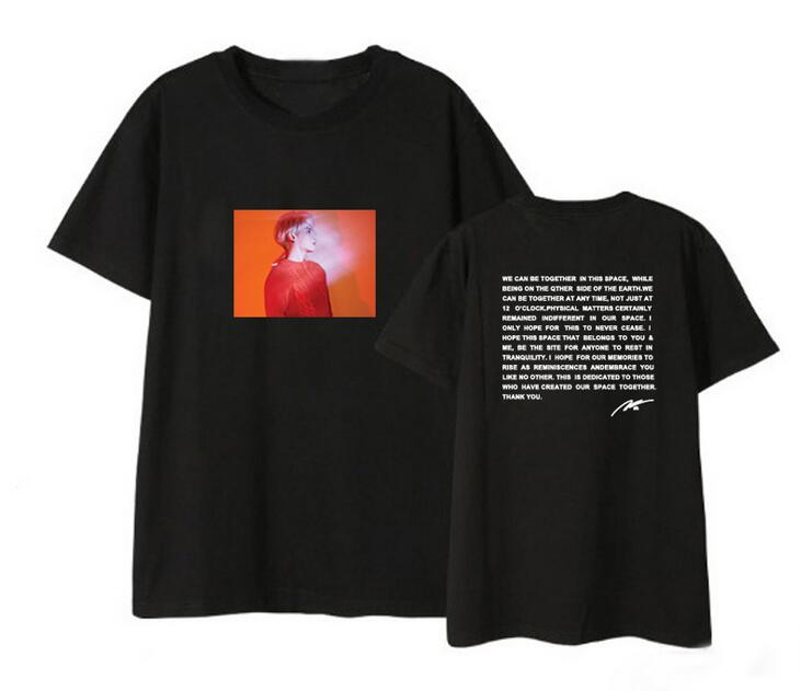 Unisex Summer Style Shinee Jonghyun Poet Artist Cover And Letter Printing O Neck T Shirt Kpop Loose Short Sleeve T Shirt