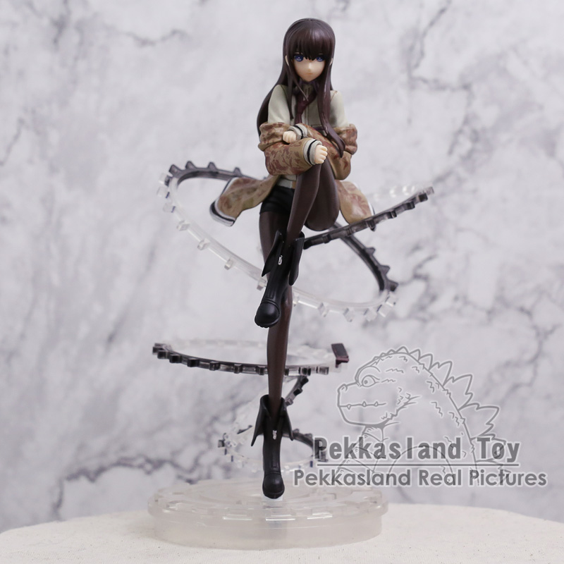 Steins Gate Makise Kurisu 1/8 Scale PVC Figure Collection Model Toy 23cm