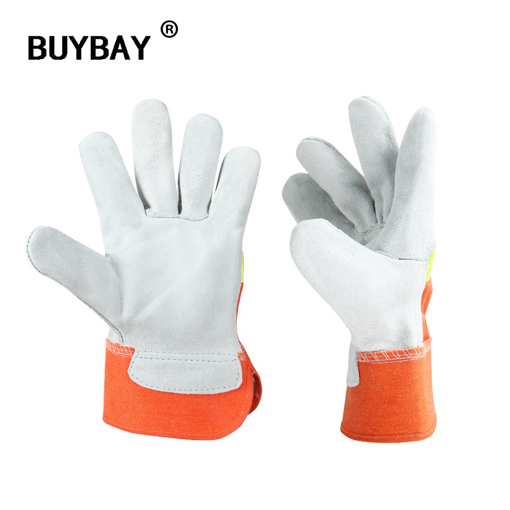 Welding Work Fire Protective Gloves Fire Proof Anti-fire Equipment Heat -Resistant Flame-retardant Gloves With Reflective Strap firefighter s hand protective equipment fire rescue flame retardant safety gloves with reflective material tape
