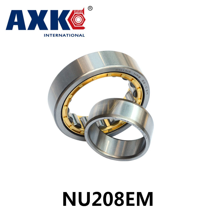 Axk Bearing Nu208em Cylindrical Roller Bearing 40*80*18mm mochu 22213 22213ca 22213ca w33 65x120x31 53513 53513hk spherical roller bearings self aligning cylindrical bore