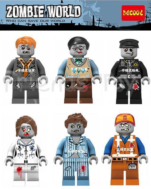 ZOMBIE WORLD Emmet Sleepyhead Nurse Walking Dead Toy Figure Bricks Movie Building Blocks