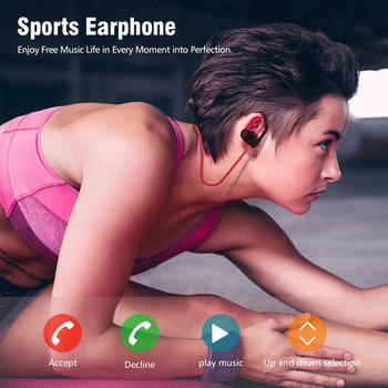 IPX4 sweatproof headphones Bluetooth 4.2 wireless sports headset stereo earphones for Philips Xenium S653H S386 X588 TLE821L TLS