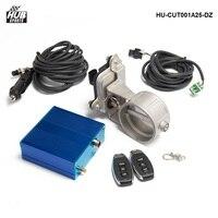 Hubsports 2 5 63mm Vacuum Exhaust Cutout Electric Control Valve Kit With Vacuum Pump HU CUT001A25