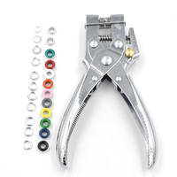 Rivets Eyelet Hole Punch Hand Pliers Belt Holes Punched Punching Plier Hole Pliers Tool 100pcs Easy