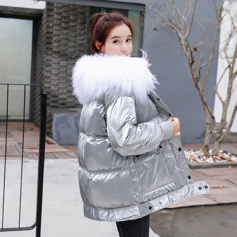 Large Real Wool Collar 2019 Winter   Down   Jacket Women White Duck   Down   Jacket Long   Down   Parkas   Coat   Female Warm Snow Outerwear