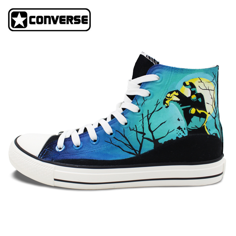 Converse All Star Women Men Shoes Zombies Original Design Hand Painted Shoes Man Woman High Top Canvas Sneakers Gifts  classic original converse all star minim musical note design hand painted shoes man woman sneakers men women christmas gifts