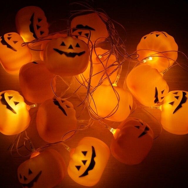 Halloween Verlichting.Partij Decoratie 16 Stks 3 5 M Led Pompoen Fairy String Voor Halloween Verlichting Tuin Party Batterij Aangedreven Kerstversiering In Partij Decoratie