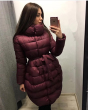 Womens Winter Jackets And Coats Real Women Winter Clothing 2017 Selling Big Size 2xl Woman Warm Cotton Coat Belt A Word Female