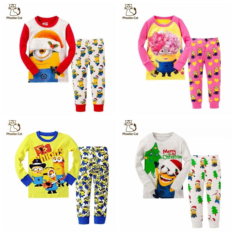 2016 Brand new Cartoon Despicable me Kid Pyjamas Boy Minions ...
