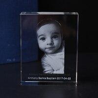 صورة مخصصة 3d كريستال كيوب الليزر النقش الطفل المعمودية التعميد أولا المقدسة بالتواصل التذكارات