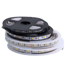 Led Strip 12 V 5050 1m 5m LedStrip 12V Not Waterproof 60LED/M led light strip SMD 5050 PC Lamp Diode Ribbon warm White green цена