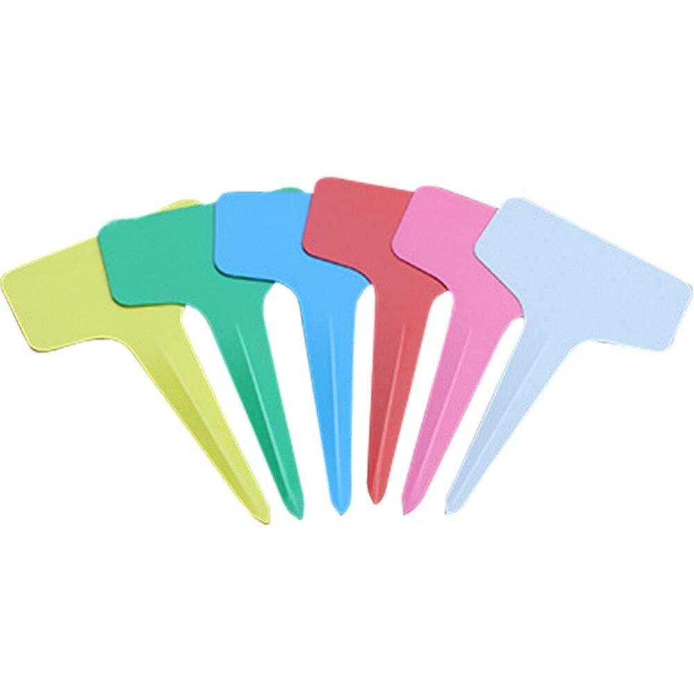 Top Sell 100pcs 6 x10cm Planta de plástico Etiquetas tipo T - Productos de jardín