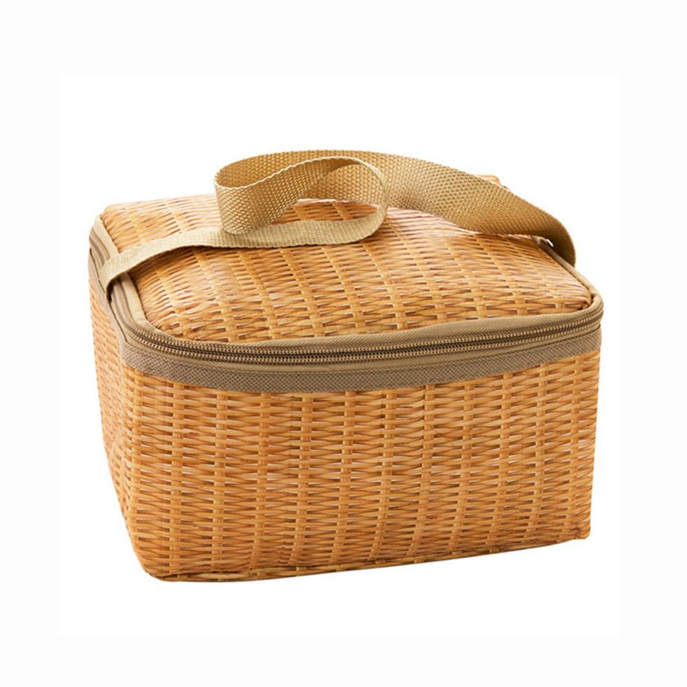 new-imitation-rattan-plaited-lunch-bag-thickened-waterproof-thermal-insulation-bags-for-school-outdoor-picnic-handbag-bag