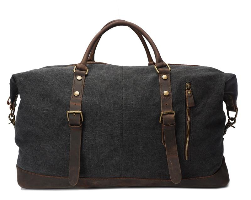 Nesitu High Quality Vintage Big Large Capacity Grey White Khaki Army Green Canvas Women Men Travel Bags Messenger Bag #M2077 цена 2017