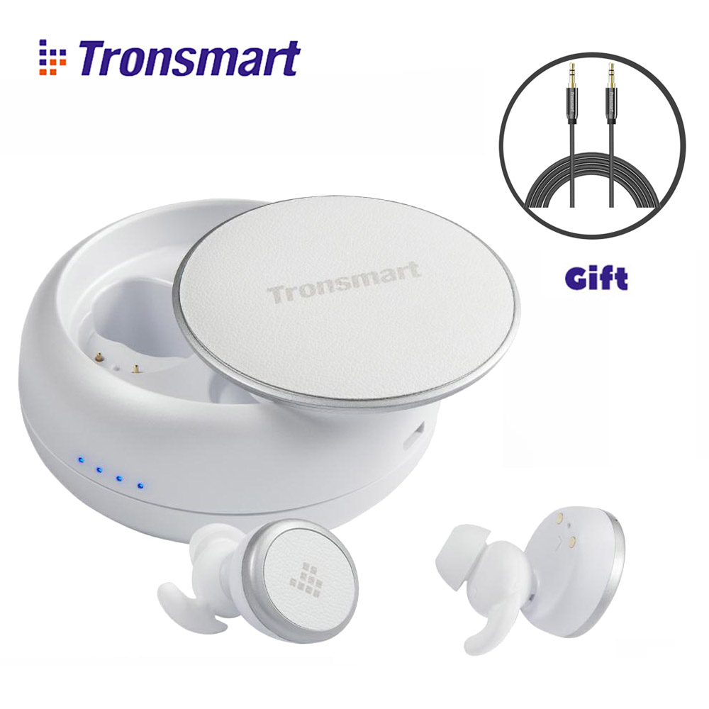 Tronsmart Encore Spunky Buds Bluetooth Earphones TWS Wireless Earphone Stereo Eurbuds IPX5 Water Resistant with Mic for Phones