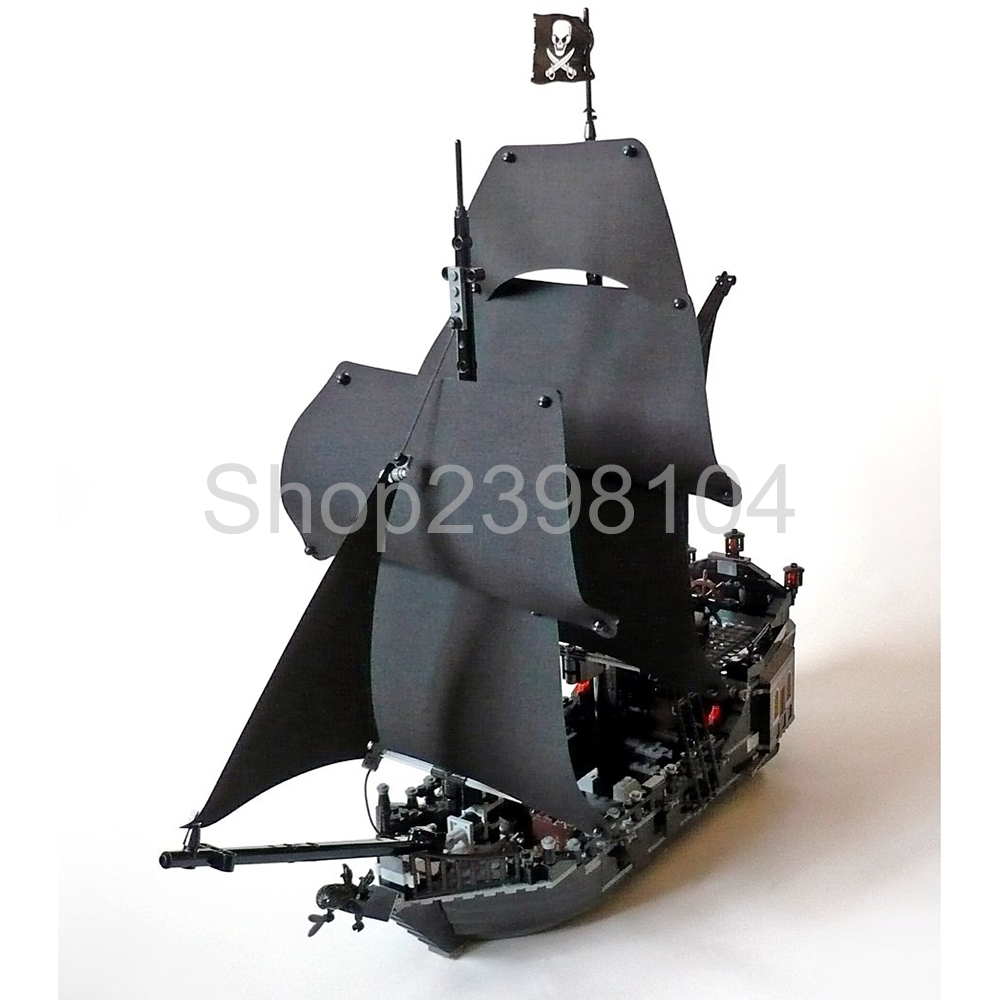 804pcs building bricks Pirates of the Caribbean the Black Pearl Ship model Toys LP16006 legoings 4184 waz compatible legoe pirates of the caribbean 4184 lepin 16006 804pcs the black pearl building blocks bricks toys for children