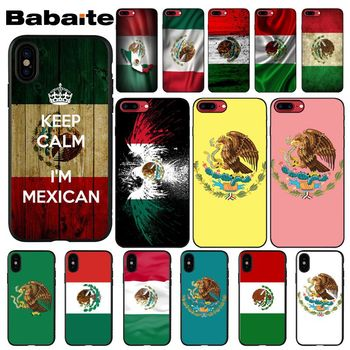Babaite Mexican National flag emblem Black Soft Shell Phone Case for Apple iPhone 8 7 6 6S Plus X XS MAX 5 5S SE XR Cellphones image