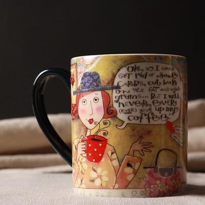 Us 23 7 Brand High Quality Girl Loves Coffee Pastoral Drinkware Ceramic Decorative Mug Creative Gift Milk Tea Coffee Mugs And Cups 450ml In Mugs