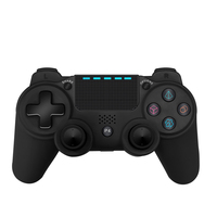 Black Wireless game controller square button gamepad For PS4