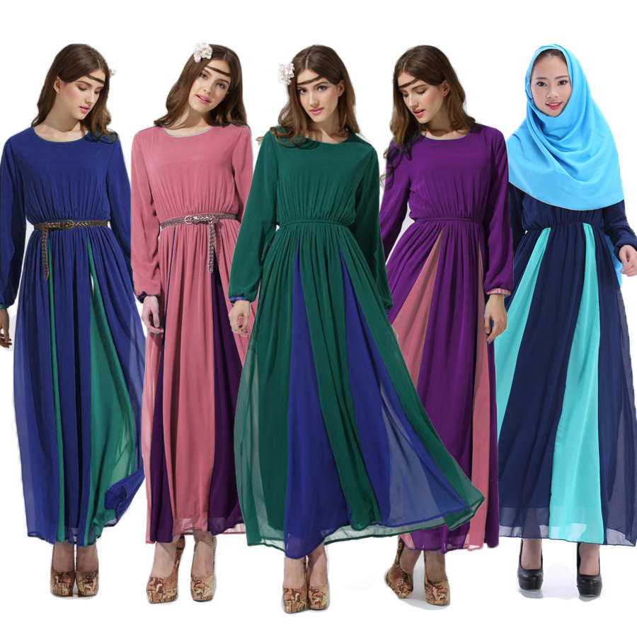 Hot middle eastern ethnic style long sleeved dress court muslim retro clothing hui long robes Retro style fashion for muslimah