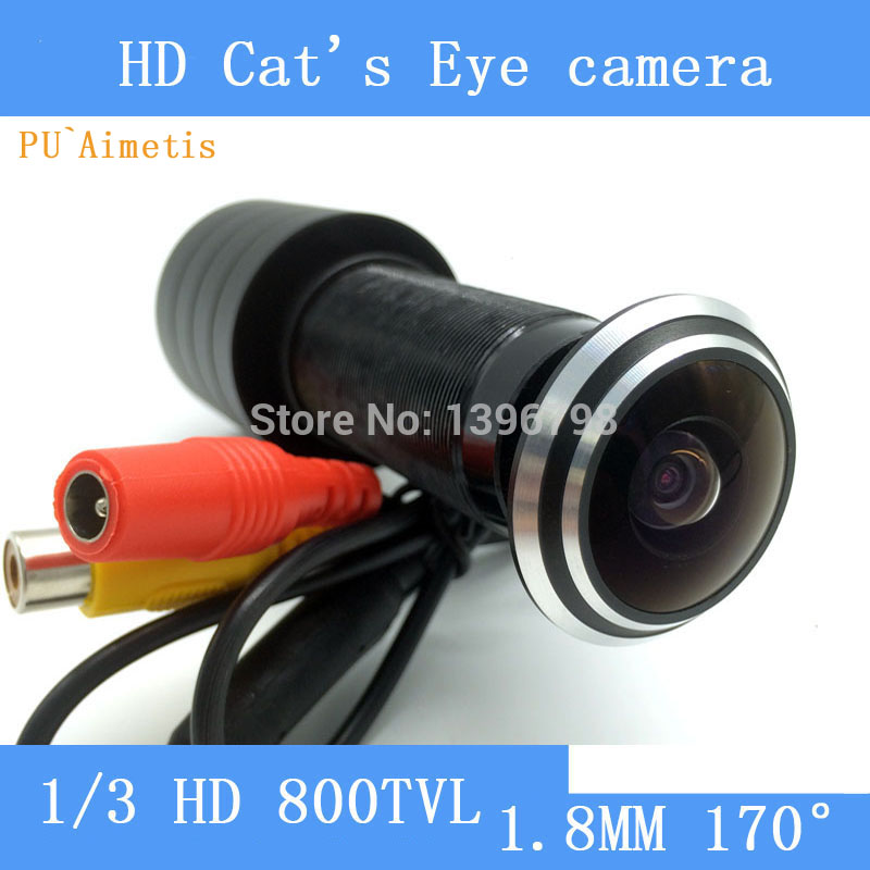 PU`Aimetis HD 170 degree wide-angle cat's-eye chip high-definition surveillance cameras security doors cat probecctv camera hd 150 degree wide angle door cat eye