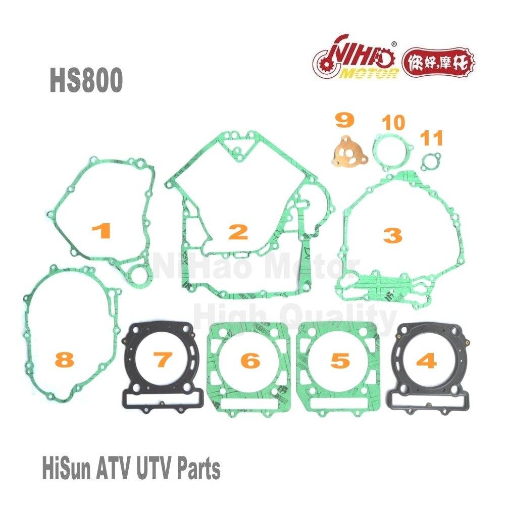 5 HISUN ATV Полный комплект деталей прокладка HS400 HS500 HS600 HS700 HS800 ATV UTV Gokart Quad запасных двигателя Запчасти качество Nihao двигателя