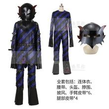 цена на Anime cosplay Persona Goro Akechi Phantom Thief Cosplay Costumes Crow Cloak Jumpsuit helmet A